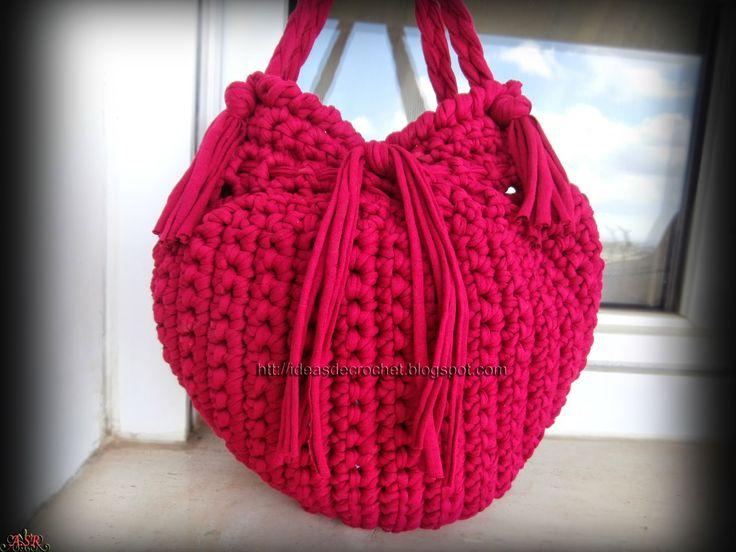 Ideas de Crochet: Bolso Fat bag para el reto amistoso nº 57 propuesto por…