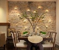 dining-room-accent-wall-stone stone wall