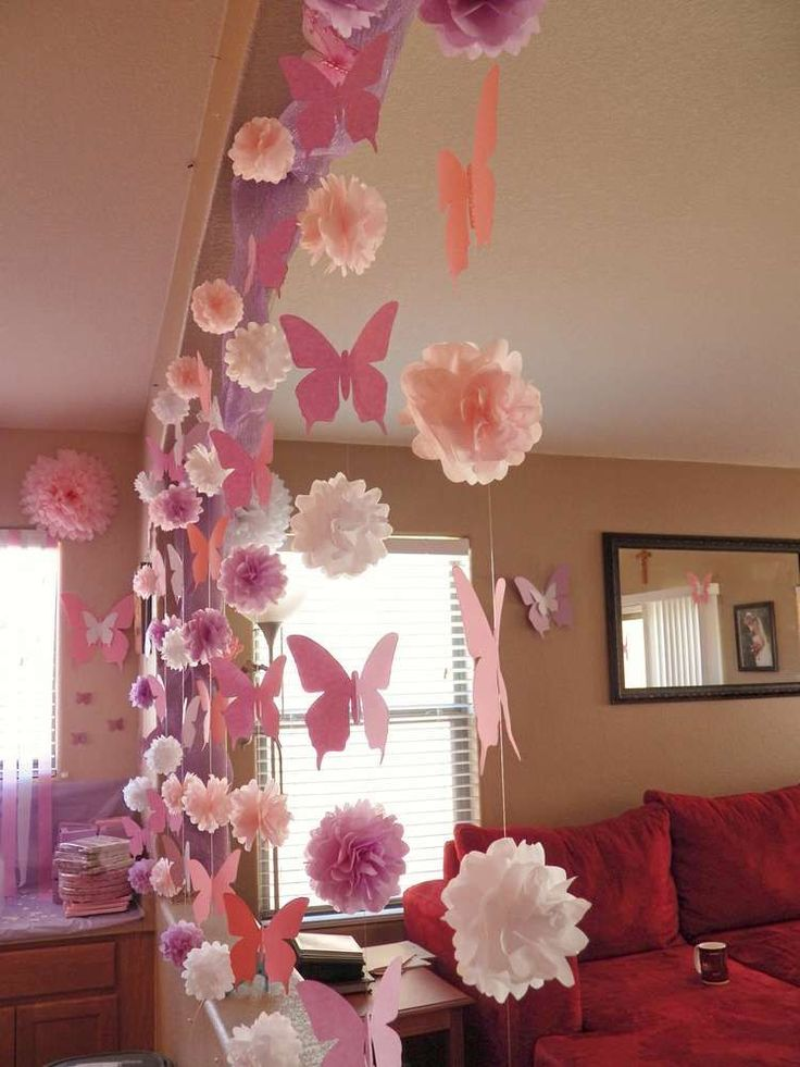 Best 25 butterfly 1st birthday ideas on pinterest for Baby birthday decoration ideas