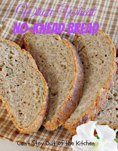 Whole Wheat No-Knead Bread - wonderful #artisan #bread using #wholewheat flour and ten-grain cereal. Easy and delicious