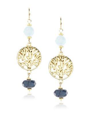 60% OFF Cristina V. Blue Jade Tree of Life Earrings