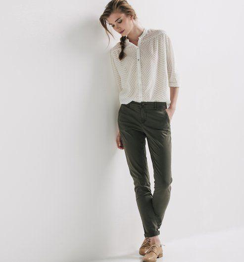 Fabuleux Les 25 meilleures idées de la catégorie Pantalon chino femme sur  RQ73