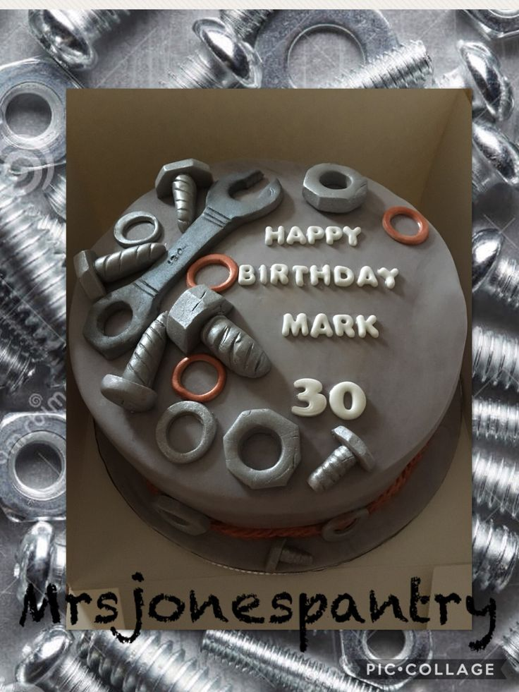 Nuts & Bolts 30th birthday cake