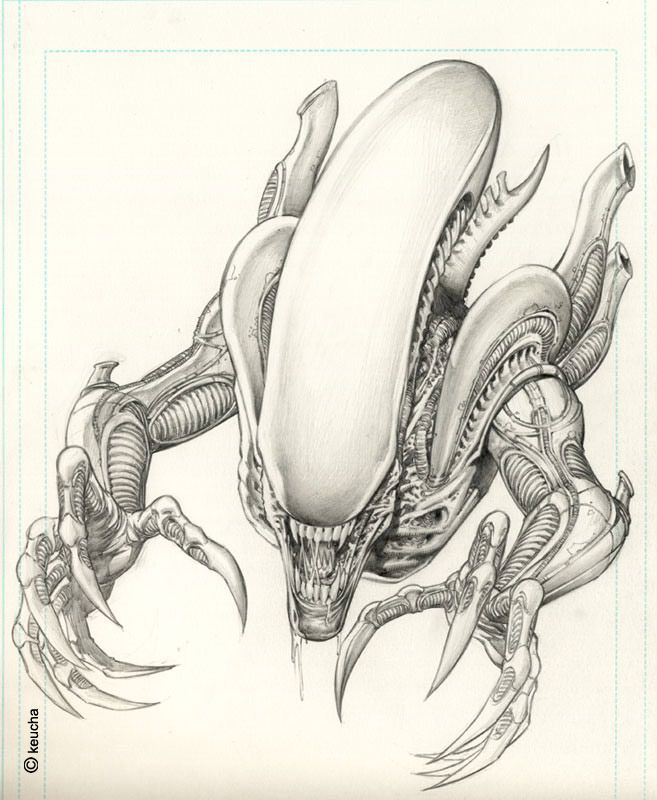 Alien by *keucha on deviantART