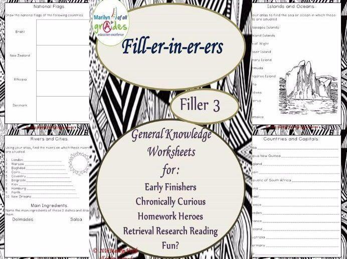 General Knowledge Fill-er-in-er-ers - Set 3