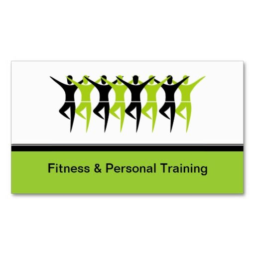 Modern fitness and personal trainer business cards make your own colourmoves