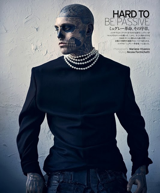 Rick Genest by Mariano Vivanco for Vogue Hommes Japan
