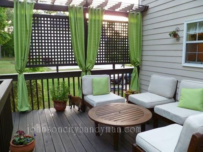 15 deck ideas that beg you to lounge on johnson city handyman llc - Small Patio Privacy Ideas