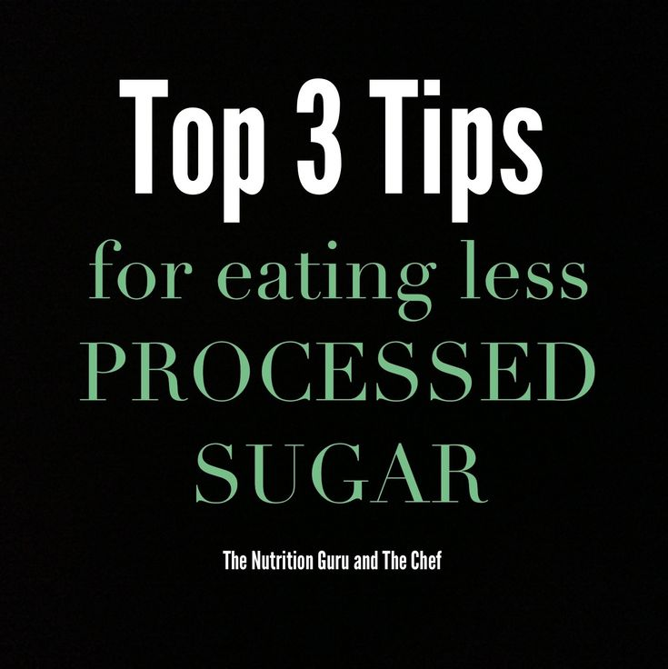 how to avoid eating processed sugar