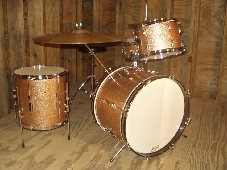 1965 Ludwig Champagne Sparkle Drum Set My Instruments