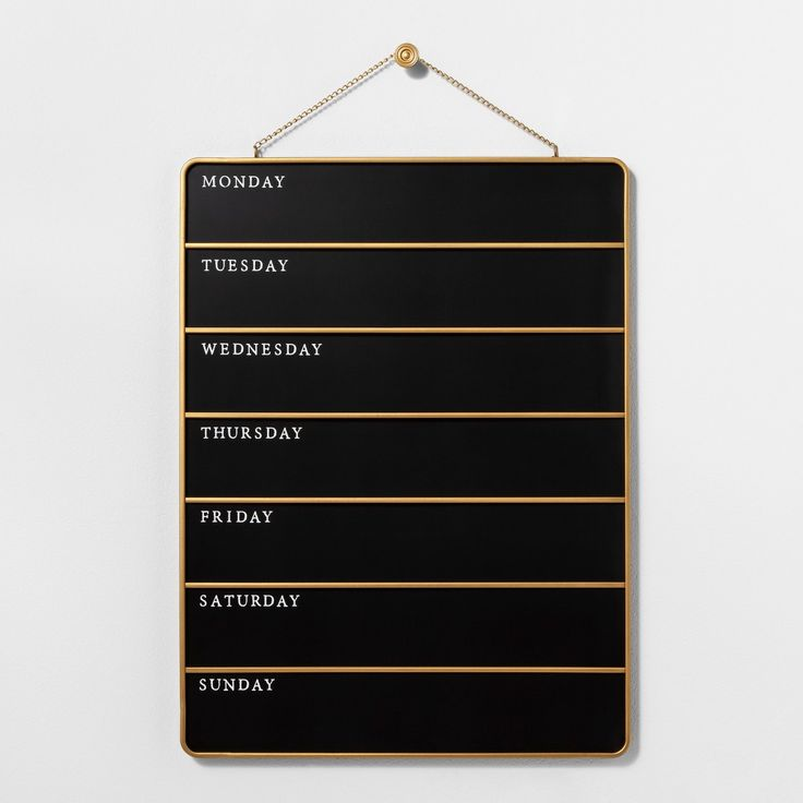 Presentation Chalk Board – Days of the Week – Small – Black – Hearth & Hand™ with Magnolia