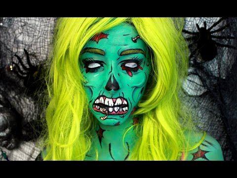 Pop Art Zombie Makeup Tutorial - YouTube
