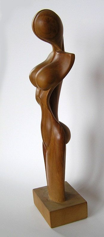 Hand Carved Cherry Tree Wood Sculpture by YavorSimpleWood on Etsy