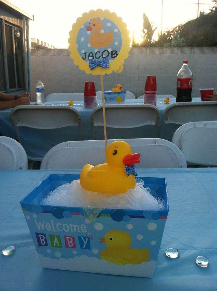 I Want This One For The Party Rubber Duck Baby Shower Centerpiece Boy By  TheChirpingCow On Etsy, $10.25 | Pinterest | Baby Shower Centerpieces Boy,  ...