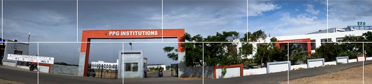 This is the front view of PPG Bschool located in Coimbatore city.