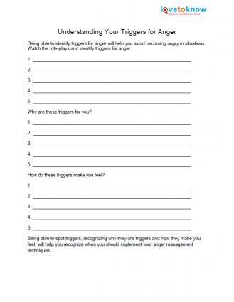 Free Anger Worksheets | Projects to Try | Pinterest ...