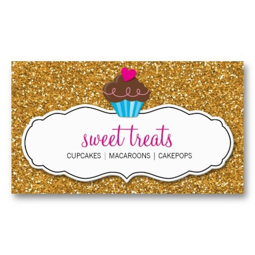 Best Cute Cupcake Business Cards Images On Pinterest Card - Cupcake business card template