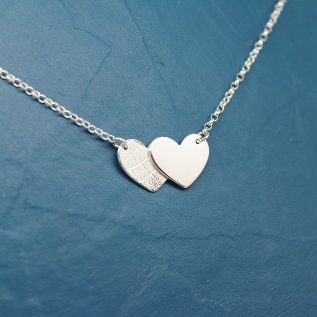 Handmade Silver Overlapping Hearts Necklace £25.00
