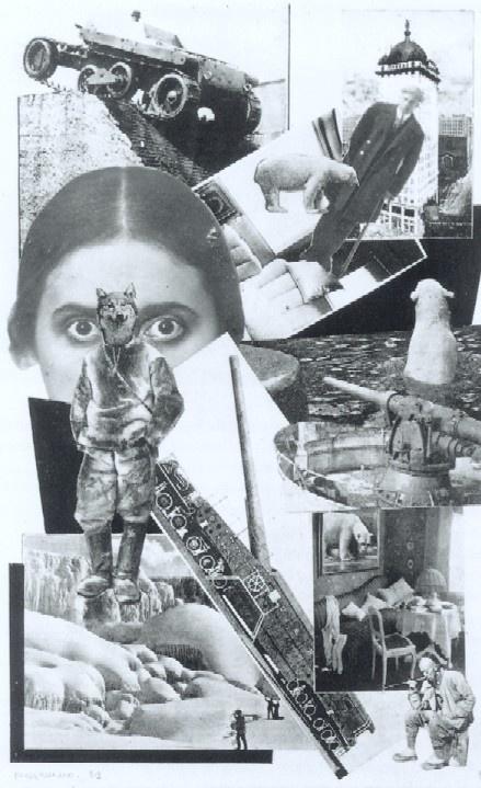 Alexandro Rodtsjenko fotomontage bij Majakovski's Pro éto, 1923