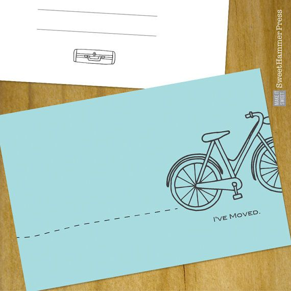 Just Moved Cards We Moved Moving Announcement by SweetHammerPress
