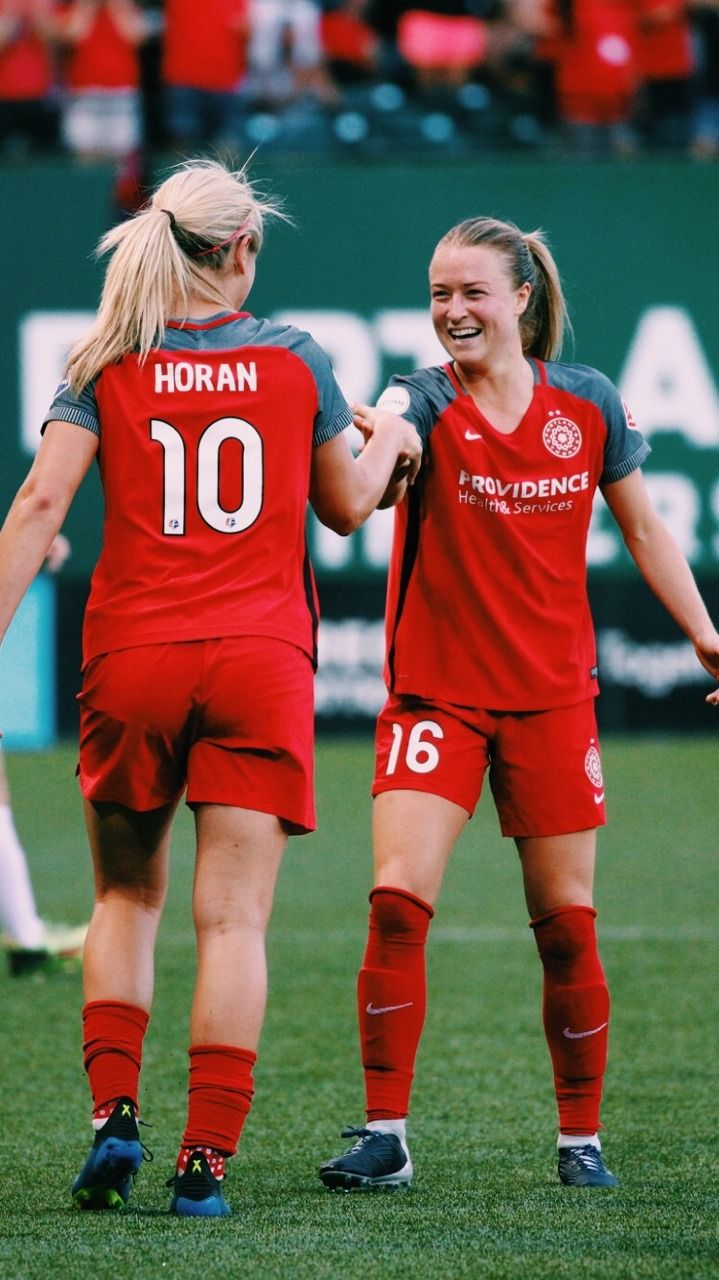 los angeles 03097 788fa Lindsey Horan #10 and Emily Sonnett #16, Portland Thorns ...