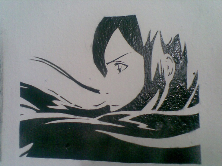 Anime Stencil | Art, Stencils, Love art