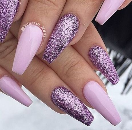 55 Acryl Coffin Nails Designs Ideen – Nägel