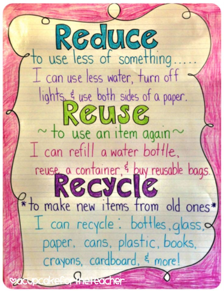 best reduce reuse recycle images environment  a cupcake for the teacher reduce reuse and recycle anchor chart