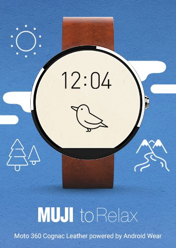 Muji watch face for Android Wear.