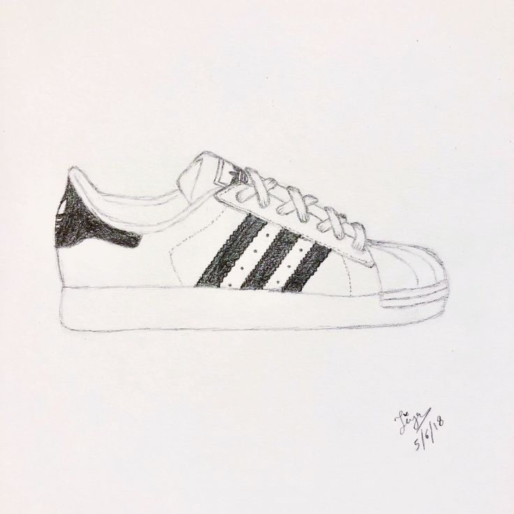 Adidas famous person sneakers doodle or drawing. My