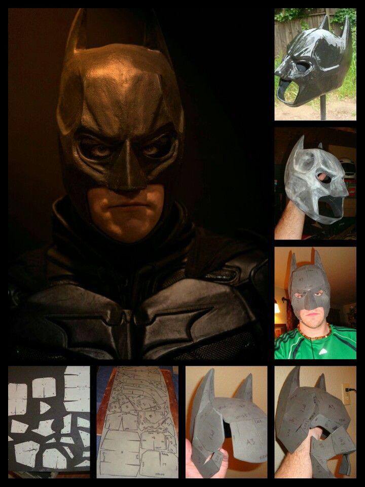 Knightingale Studios Eva Foam Batman Bat Cowl Start To Finish Geeky Art Projects Costumes Cosplay