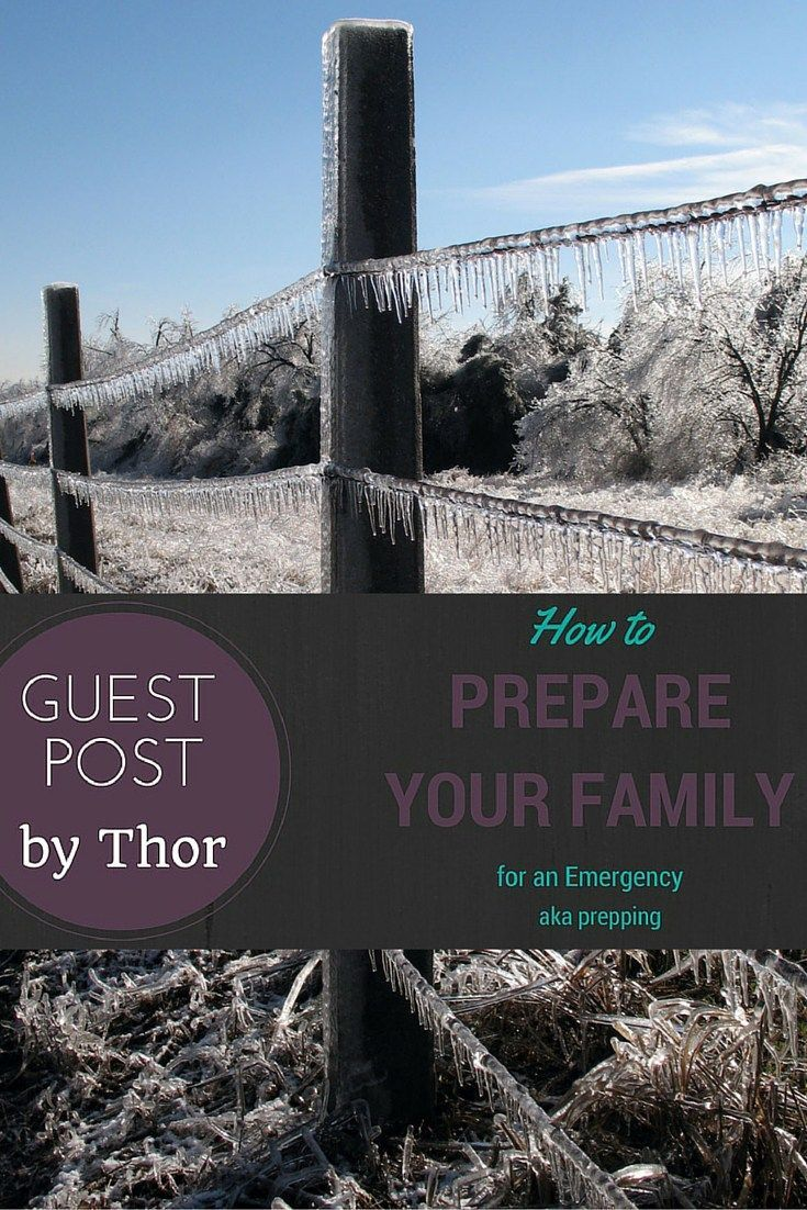 How to Prepare Your Family for an Emergency (AKA Prepping) title - pt