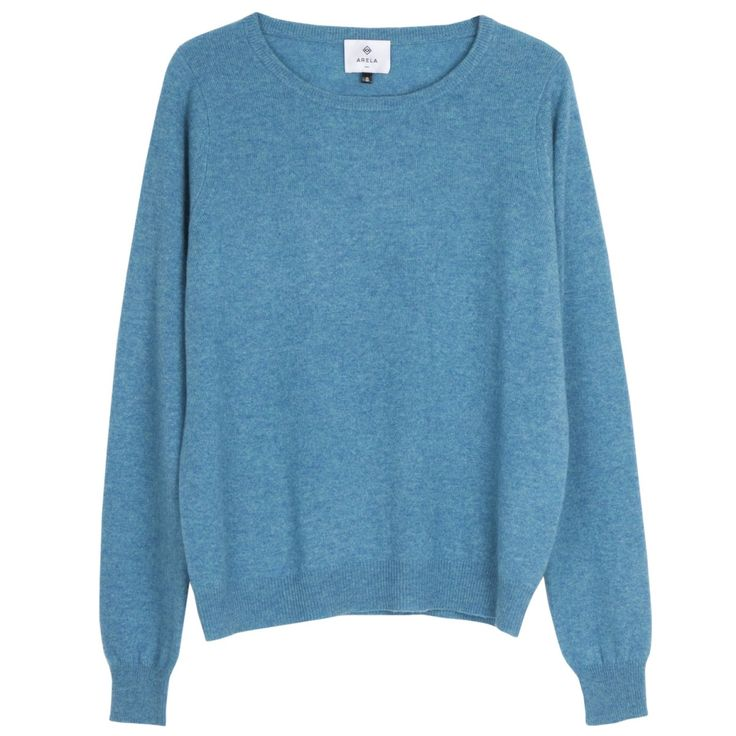 Laine cashmere sweater in Cardiff turquoise | Arela