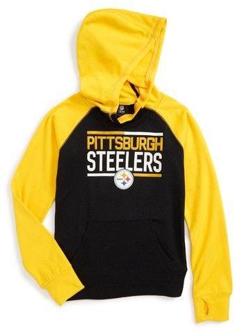 Girl's Outerstuff Nfl Pittsburgh Steelers Hoodie