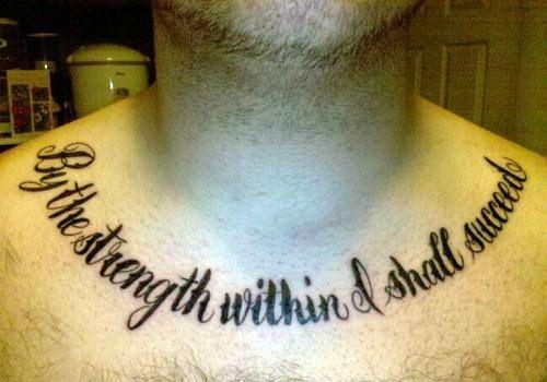 Pretty Quote Tattoo