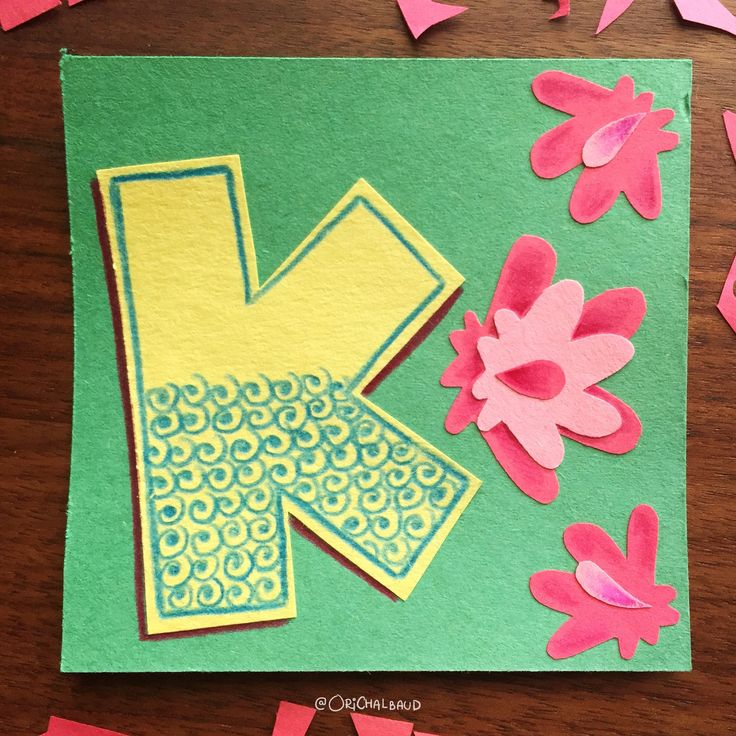Letter k!. This is part of a paper art type I'm making for 36 days of type and also part of my 100 days project about paper art! :)