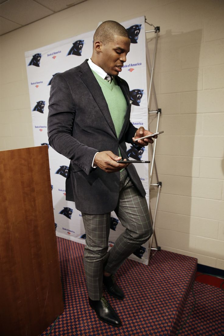 Carolina Panthers Quarterback Cam Newton Gives Us Some Serious Menswear  Style Inspiration. Adding A Pop