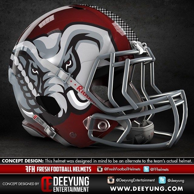 Alabama Crimson concept helmet.... gets my vote!
