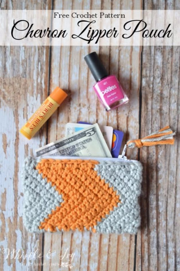 Best DIY Gifts for Girls - Chevron Zipper Pouch - Cute Crafts and DIY Projects that Make Cool DYI Gift Ideas for Young and Older Girls, Teens and Teenagers - Awesome Room and Home Decor for Bedroom, Fashion, Jewelry and Hair Accessories - Cheap Craft Projects To Make For a Girl for Christmas Presents http://diyjoy.com/diy-gifts-for-girls #craftsforteenstomakeforbedroom