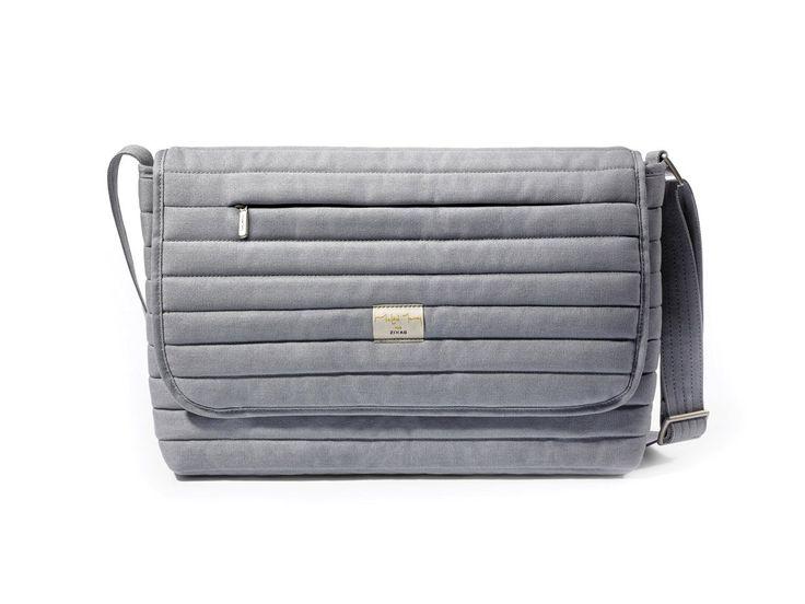 Zixag City Series Canvas Waterproof Messenger Bag Laptop Bag School shoulder Bag Earl Grey