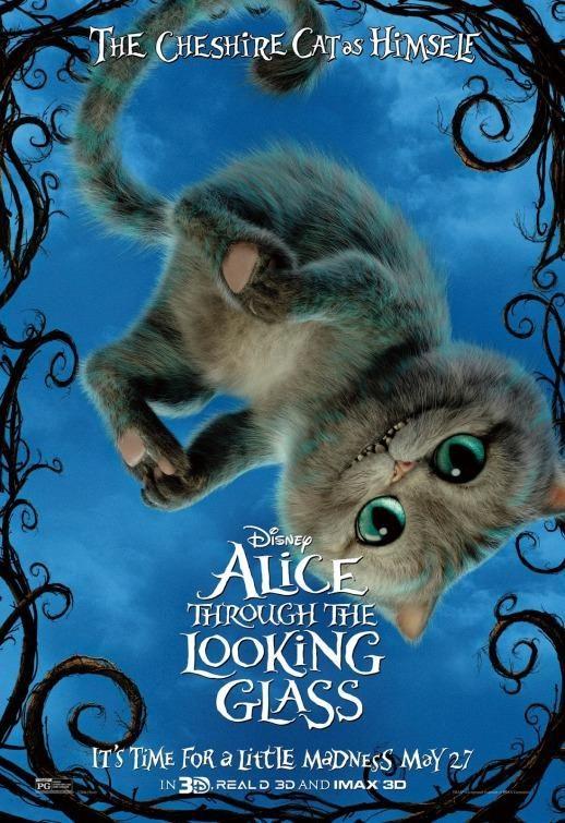 """Présent sur l'un des posters d'Alice au Pays des Merveilles, le chat souriant n'avait pas encore eu de """"character poster""""."""