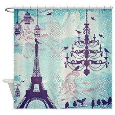 Paris Eiffel Tower Shower Curtain #eiffletowershowercurtainglam