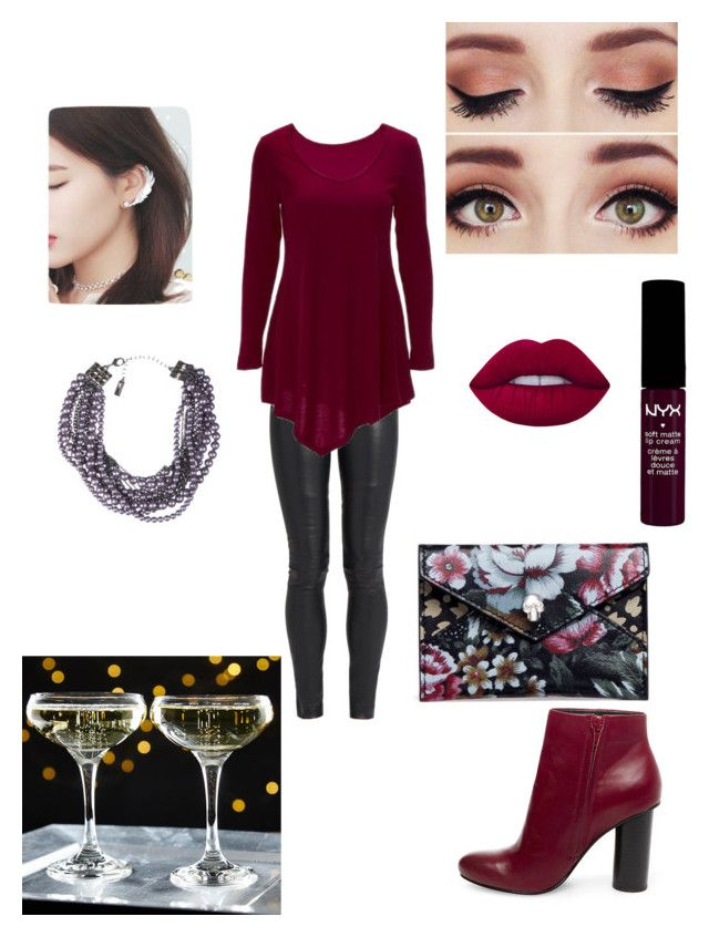 """Easy going night"" by rainbowfra on Polyvore featuring The Row, Steve Madden, Lia Sophia, NYX, Lime Crime and Alexander McQueen"