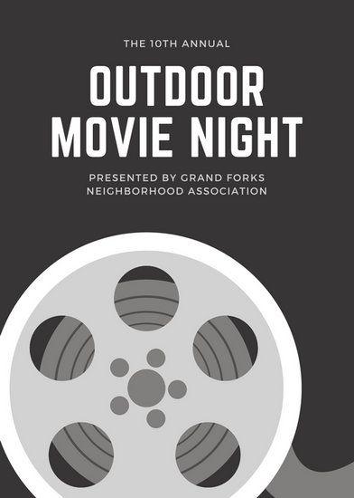 Monochrome Reel Movie Night Flyer infographics Pinterest Flyer