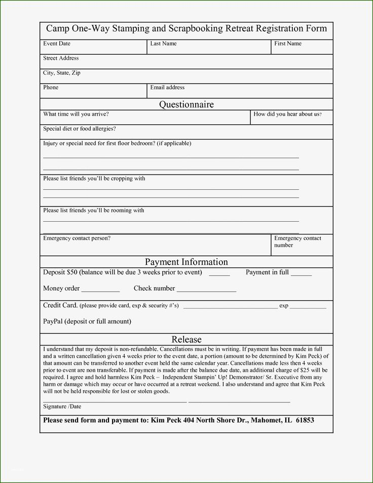 Registration form Template Word 20 Meaning with Photos