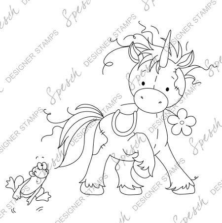 Cute Unicorn Digital Stamp