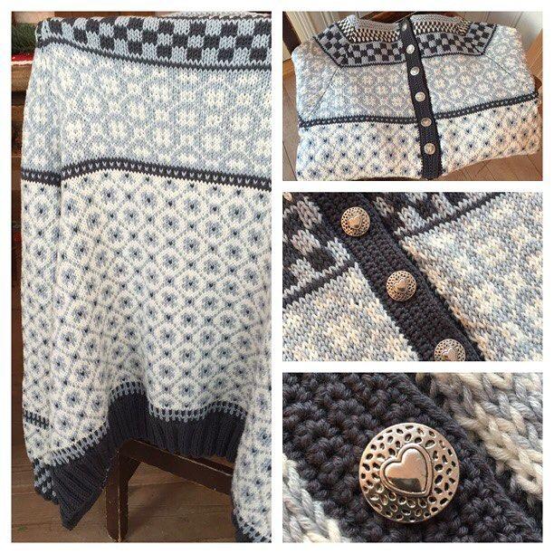 Min første #wiolakofta ❄️ #strikk #strikking #strikkedilla #strikke #strikkeglede #høststrikk #strikkejakke #kofte #lekmedtradisjoner #strikketøy #strikkelykke #homemade #håndarbeid #dalegarn #knit #instaknit #knitting #iloveknitting #loveknit