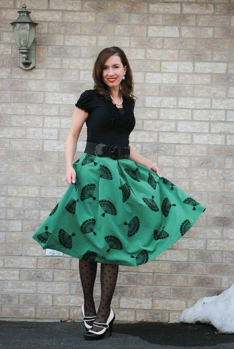 Doesn't she look amazing in our B. Jones Style Skirt in Pine? #mostloved #jeweltone