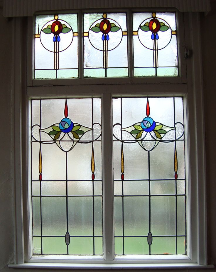 Edwardian stained glass window from the old Wesleyan church