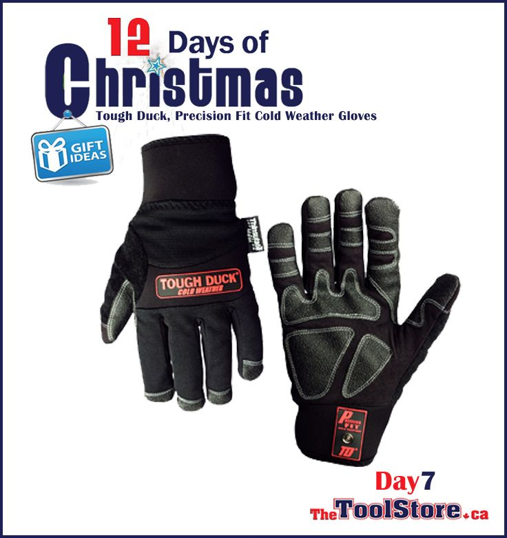 #12DaysofChristmas from @onlinetoolstore - DAY7 - Tough Duck, Precision Fit Cold Weather Gloves with durable stretch nylon with Thinsulate™ lining.